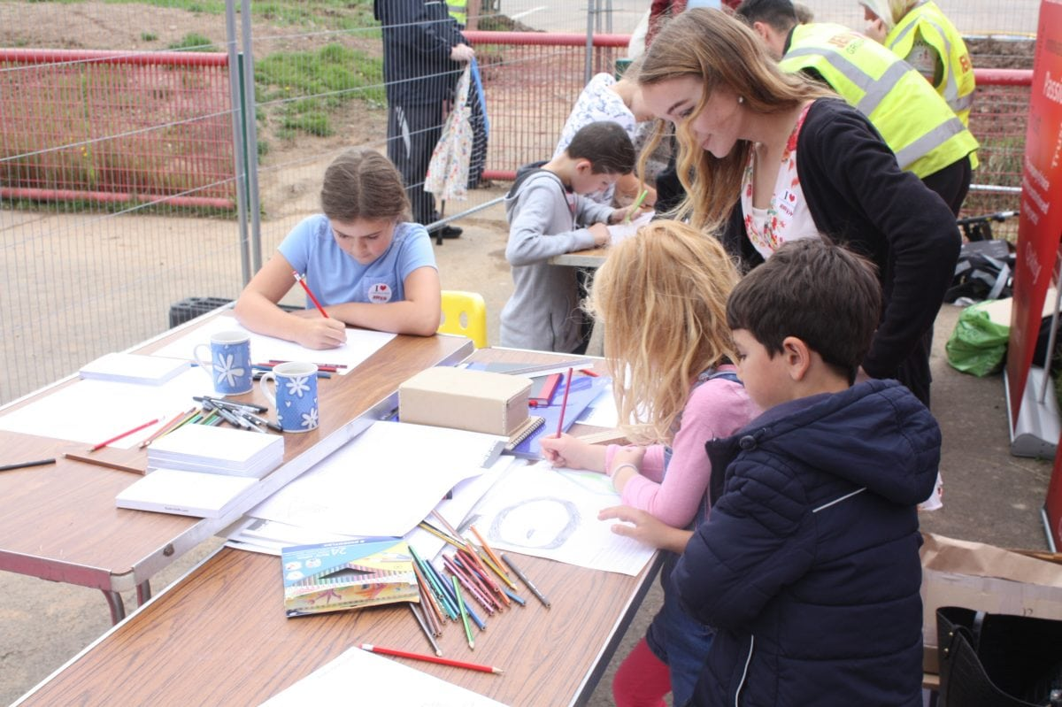 Youngsters share aspirations for their new community square at the Maelfa Mega Fun Day